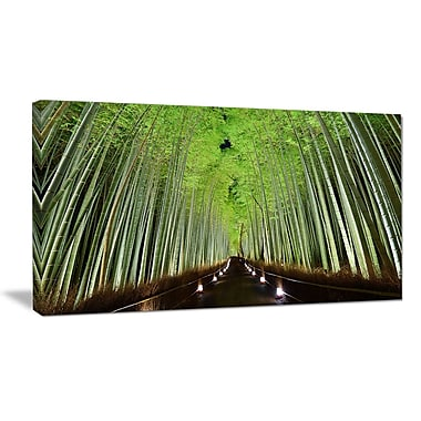 DesignArt 'Beautiful Bamboo Forest Panorama' Photographic Print on Wrapped Canvas