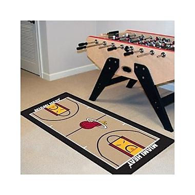 FANMATS NBA - Miami Heat NBA Court Runner Doormat; 2' x 3'8''