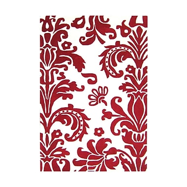 Alliyah Rugs Brianna Hand-Tufted Red Area Rug; 4' x 6'