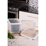 TarHong Zakarian Pro For Home 2 Extra Large Container Food Storage Set (Set of 2); White
