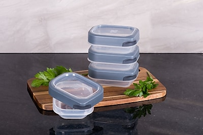 TarHong Zakarian Pro For Home 4 Mini Container Food Storage Set (Set of 4); Gray
