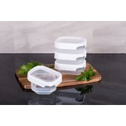 TarHong Zakarian Pro For Home 4 Mini Container Food Storage Set (Set of 4); White