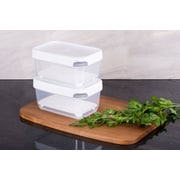 TarHong Zakarian Pro For Home 2 Medium Container Food Storage Set (Set of 2); White