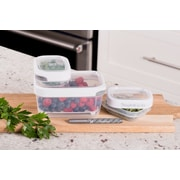 TarHong Zakarian Pro For Home 3 Container Food Storage Set; White
