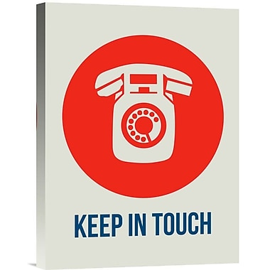 Naxart 'Keep In Touch 1' Graphic Art on Wrapped Canvas; 16'' H x 12'' W x 1.5'' D