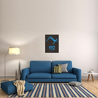 Naxart 'YYZ Toronto Poster 1' Graphic Art on Wrapped Canvas; 32'' H x 24'' W x 1.5'' D