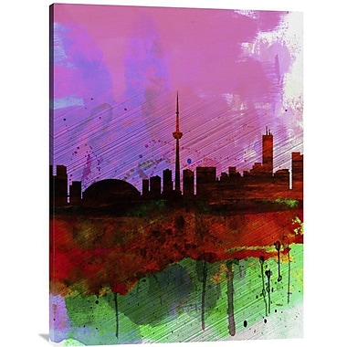 Naxart 'Toronto Watercolor Skyline' Painting Print on Wrapped Canvas; 40'' H x 30'' W x 1.5'' D