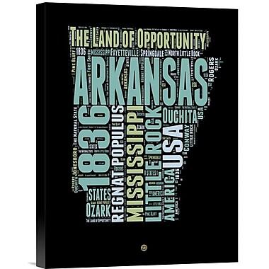 Naxart 'Arkansas Word Cloud 1' Textual Art on Wrapped Canvas; 16'' H x 12'' W x 1.5'' D