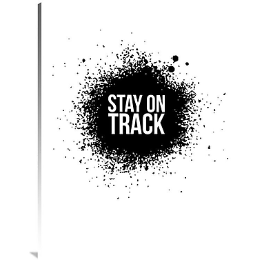 Naxart 'Stay on Track Poster' Textual Art on Wrapped Canvas; 40'' H x 30'' W x 1.5'' D