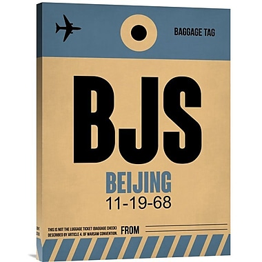 Naxart 'BJS Beijing Luggage Tag 2' Graphic Art on Wrapped Canvas; 24'' H x 18'' W x 1.5'' D