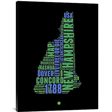 Naxart 'New Hampshire Word Cloud 1' Textual Art on Wrapped Canvas; 32'' H x 24'' W x 1.5'' D