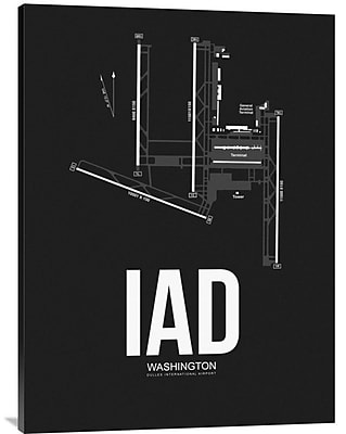 Naxart 'IAD Washington Airport' Graphic Art on Wrapped Canvas; 40'' H x 30'' W x 1.5'' D