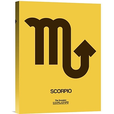 Naxart 'Scorpio Zodiac Sign' Graphic Art on Wrapped Canvas in Brown; 16'' H x 12'' W x 1.5'' D