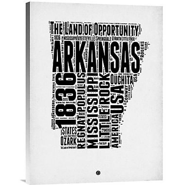 Naxart 'Arkansas Word Cloud 2' Textual Art on Wrapped Canvas; 24'' H x 18'' W x 1.5'' D