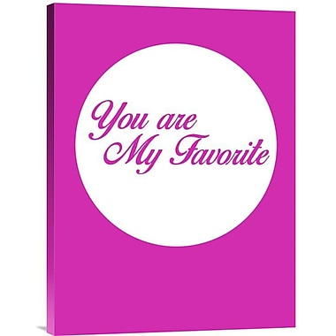 Naxart 'You Are My Favorite 3' Textual Art on Wrapped Canvas; 24'' H x 18'' W x 1.5'' D