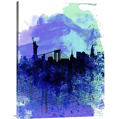 Naxart 'New York Watercolor Skyline 2' Graphic Art on Wrapped Canvas; 32'' H x 24'' W x 1.5'' D