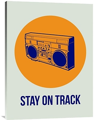 Naxart 'Stay On Track BoomBox 1' Graphic Art on Wrapped Canvas; 32'' H x 24'' W x 1.5'' D