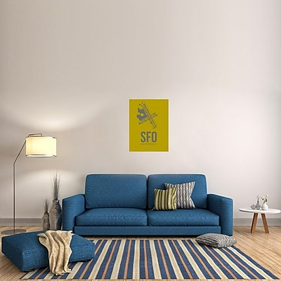 Naxart 'SFO San Francisco Poster 3' Graphic Art on Wrapped Canvas; 32'' H x 24'' W x 1.5'' D