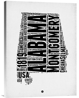 Naxart 'Alabama Word Cloud 2' Textual Art on Wrapped Canvas; 24'' H x 18'' W x 1.5'' D