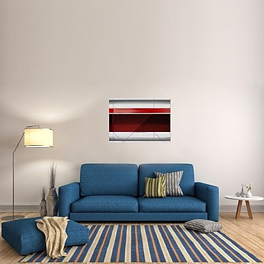 Naxart 'Abstract Red and Brown' Graphic Art on Wrapped Canvas; 28.4'' H x 40'' W x 1.5'' D