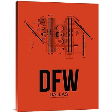 Naxart 'DFW Dallas Airport' Graphic Art on Wrapped Canvas; 24'' H x 18'' W x 1.5'' D
