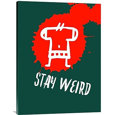 Naxart 'Stay Weird Poster 2' Graphic Art on Wrapped Canvas; 32'' H x 24'' W x 1.5'' D