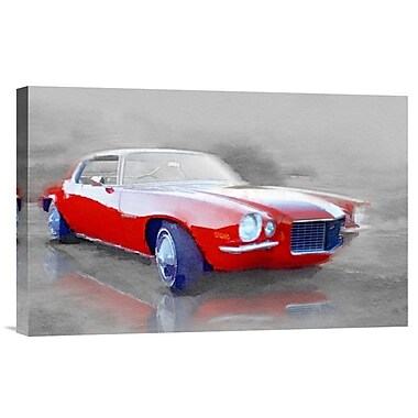 Naxart '1970 Chevy Camaro' Painting Print on Wrapped Canvas; 12'' H x 18'' W x 1.5'' D