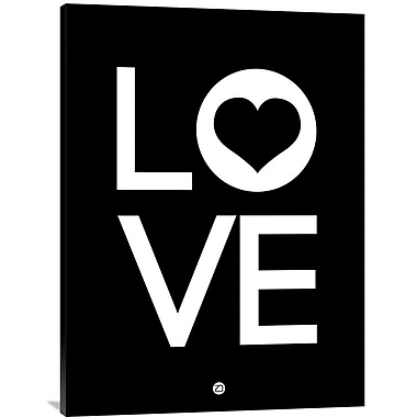 Naxart 'Love Poster 3' Textual Art on Wrapped Canvas; 40'' H x 30'' W x 1.5'' D