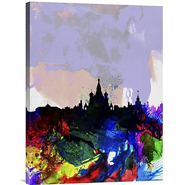 Naxart 'Moscow Watercolor Skyline' Graphic Art on Wrapped Canvas; 24'' H x 18'' W x 1.5'' D