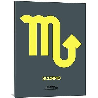 Naxart 'Scorpio Zodiac Sign' Textual Art on Wrapped Canvas in Yellow; 40'' H x 30'' W x 1.5'' D