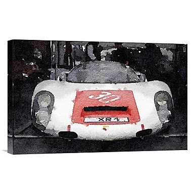 Naxart 'Ferrari Front End Monterey Watercolor' Painting Print on Wrapped Canvas