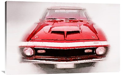 Naxart '1968 Chevy Camaro Front End Watercolor' Graphic Art on Wrapped Canvas