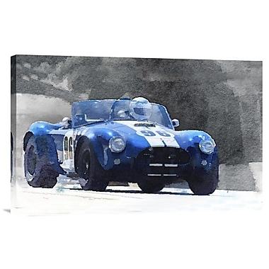 Naxart '1964 AC Cobra Shelby Racing Watercolor' Painting Print on Wrapped Canvas