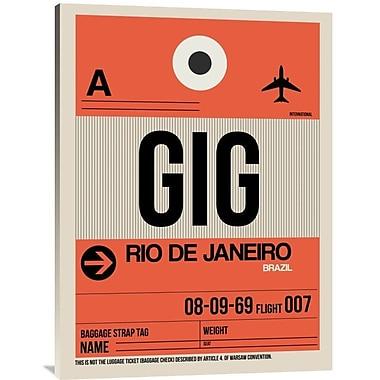 Naxart 'GIG Rio De Janeiro Luggage Tag 2' Graphic Art on Wrapped Canvas; 40'' H x 30'' W x 1.5'' D
