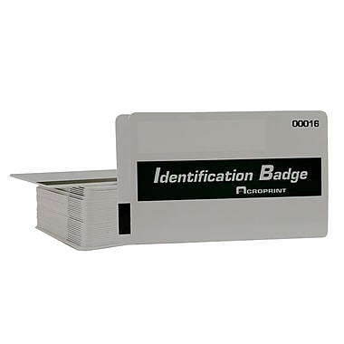 Acroprint (14-0129-001) Magnetic Stripe Badges, 15/Pack