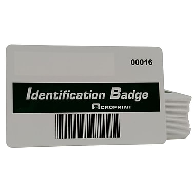 Acroprint (14-0128-001) BarCode Badges, 15/Pack