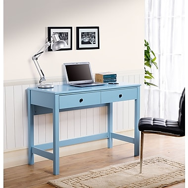 Homestar (Z1611024) Othello writing desk in Blue Paint Finish