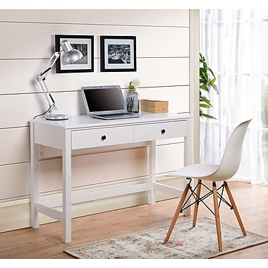 Homestar (Z1611054) Othello writing desk in White Paint Finish