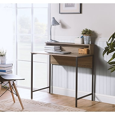 Homestar (Z1610744) Titania computer Desk with Hutch in Reclaimed Wood Finish