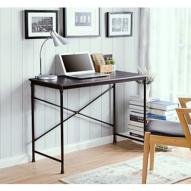 Homestar (Z1411567) Prospero writing desk in Dark Oak finish with Metal Legs