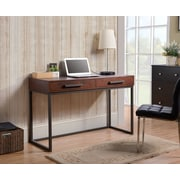 Homestar (Z1610999) Horatio computer desk in Dark Brown Finish with Metal Base