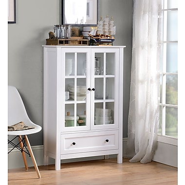 Homestar (Z1611067) Miranda Cabinet in White Paint Finish