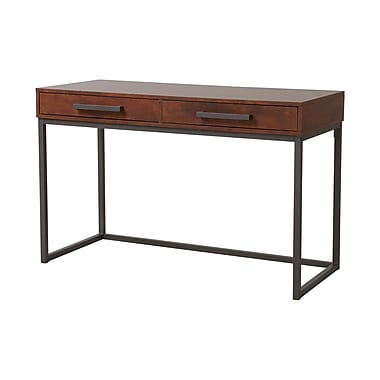 Homestar Horatio computer desk in Dark Brown Finish with Metal Base (Z1610999)