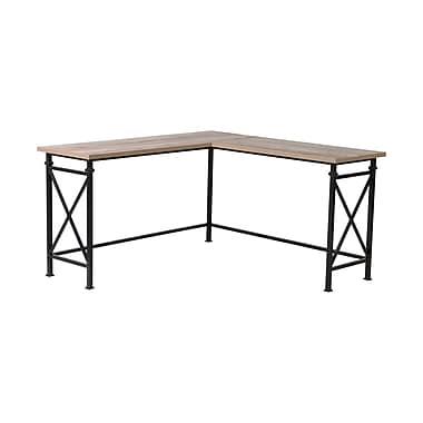 Homestar Banquo Corner Desk with Metal Legs, Reclaimed Wood (Z1610378)
