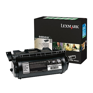 Lexmark 64004HA High Yield Print Cartridge, Black, 21, 000 standard pages