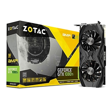 Zotac GeForce GTX 1080 Ti AMP Edition Graphic Card, GDDR5X, 11 GB, English (ZT-P10810D-10P)