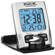 Marathon Travel Alarm Clock with Calendar & Temperature (CL030023)