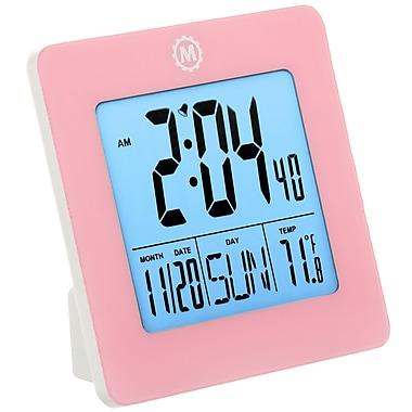 Marathon - Horloge numérique de table Cl030050pi, 3,75 x 3,75 x 1,5 po, rose