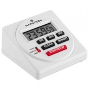 Marathon 24 Hour Large Digital Timer with Count-up/Down Timer and Clock Feature, White (TI080001)