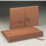 "Smead Wallet, 5.25"" Expansion, Flap with Cloth Tie Closure, 15"" W x 10"" H, Redrope, 10 per Box (71076)"